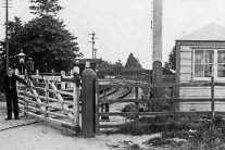Langstone level crossing circa 1900-1914 from the Roger Nash collection.