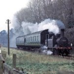 Engine Puffing Along Track