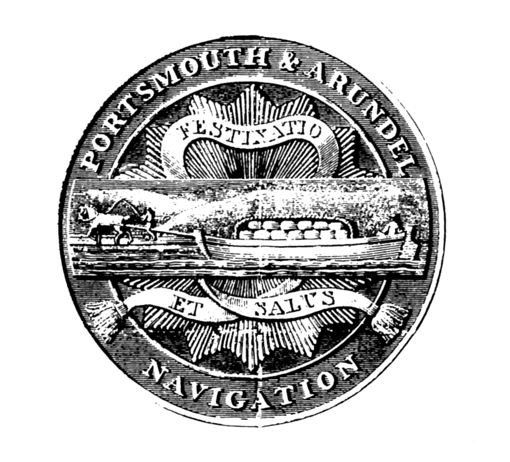 The seal of the Portsmouth and Arundel navigation company