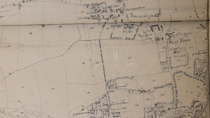 1870's map of West Town