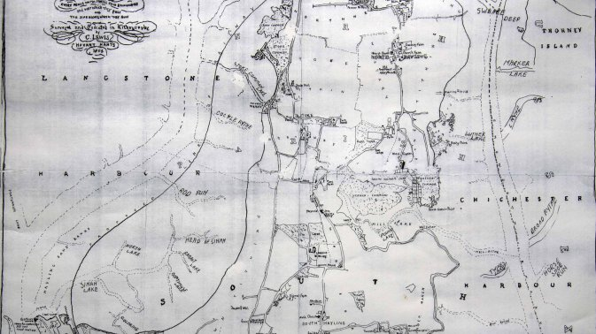 1864 Map of Hayling Island