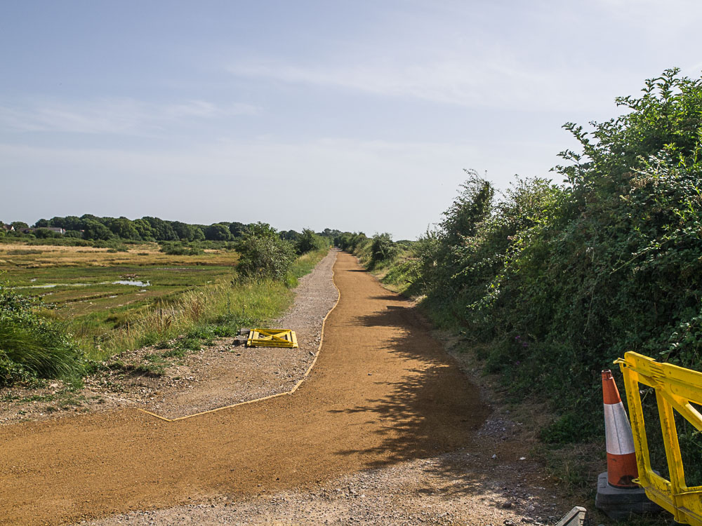 New path laid on the railway alignment