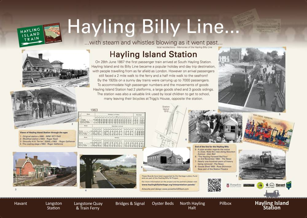 Hayling Island Station Interpretation Panel - Dan Powell