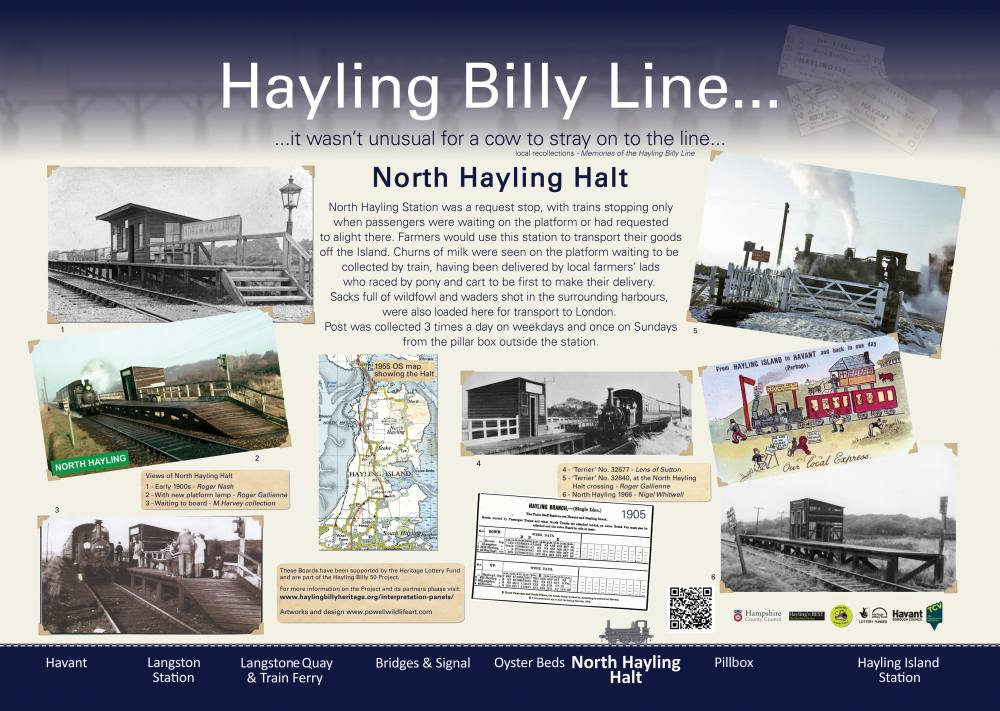 North Hayling Halt Interpretation Panel - Dan Powell
