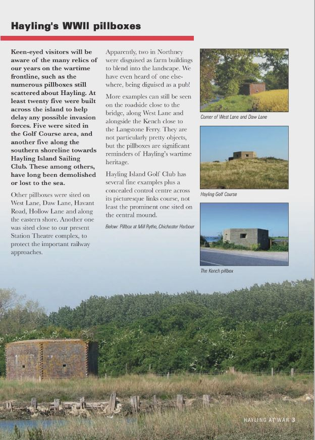 Extract from Hayling at War Publication – Discover Hayling