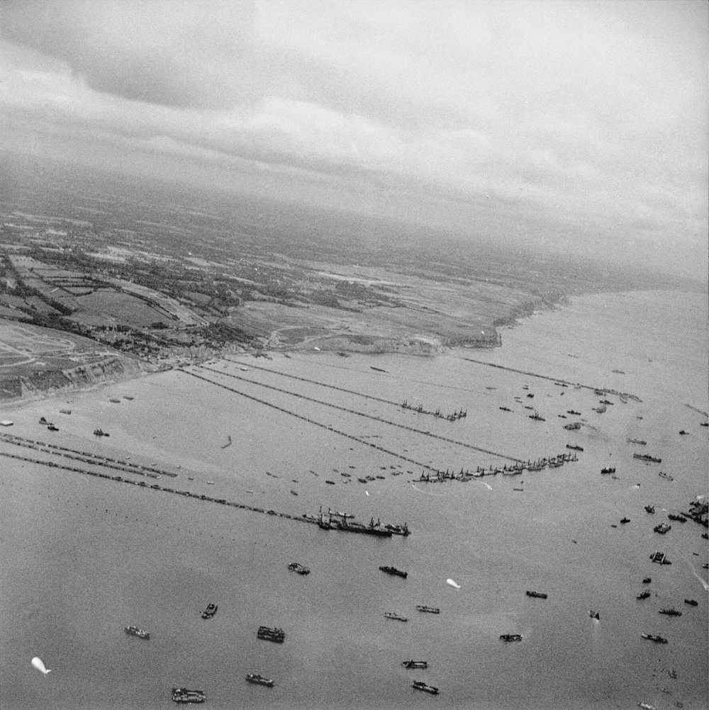 View of the Mulberry B harbour