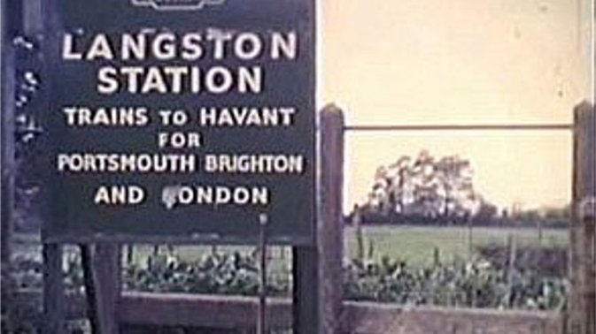 Sign at Langston Station (sic)