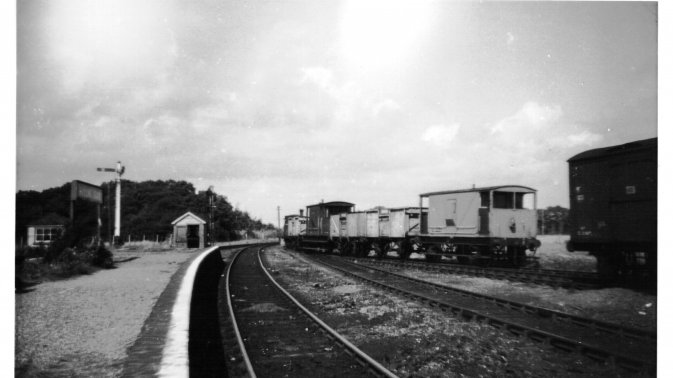 Hayling Island: the 2.58 up mixed train departing