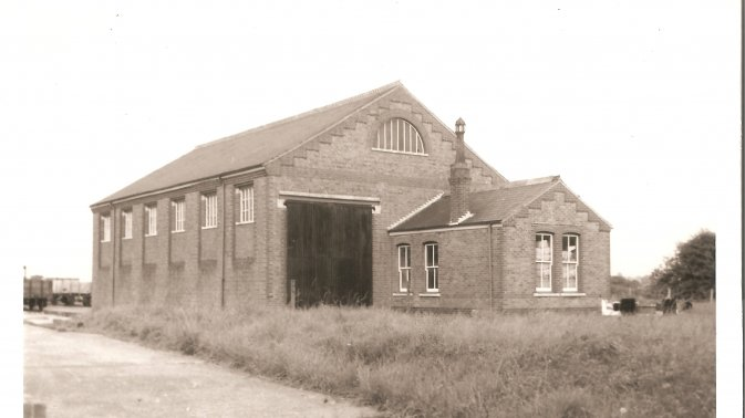 Hayling Island goods shed September 1959