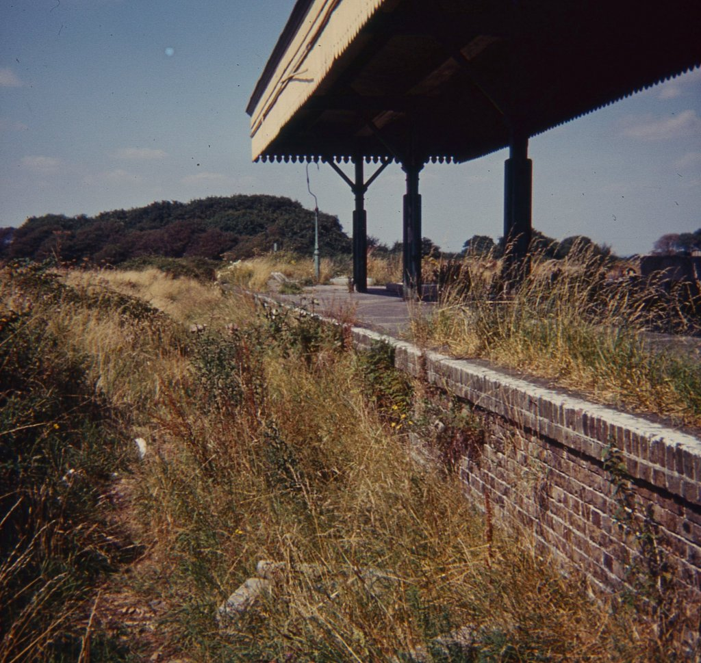 The station from the bay platform in 1972 - Trevor Ryall