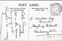 Postcard to Samuel Walder – Mike Hill collection