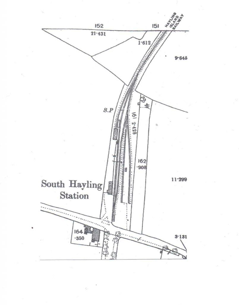 Station track plan. Engine shed is located top left