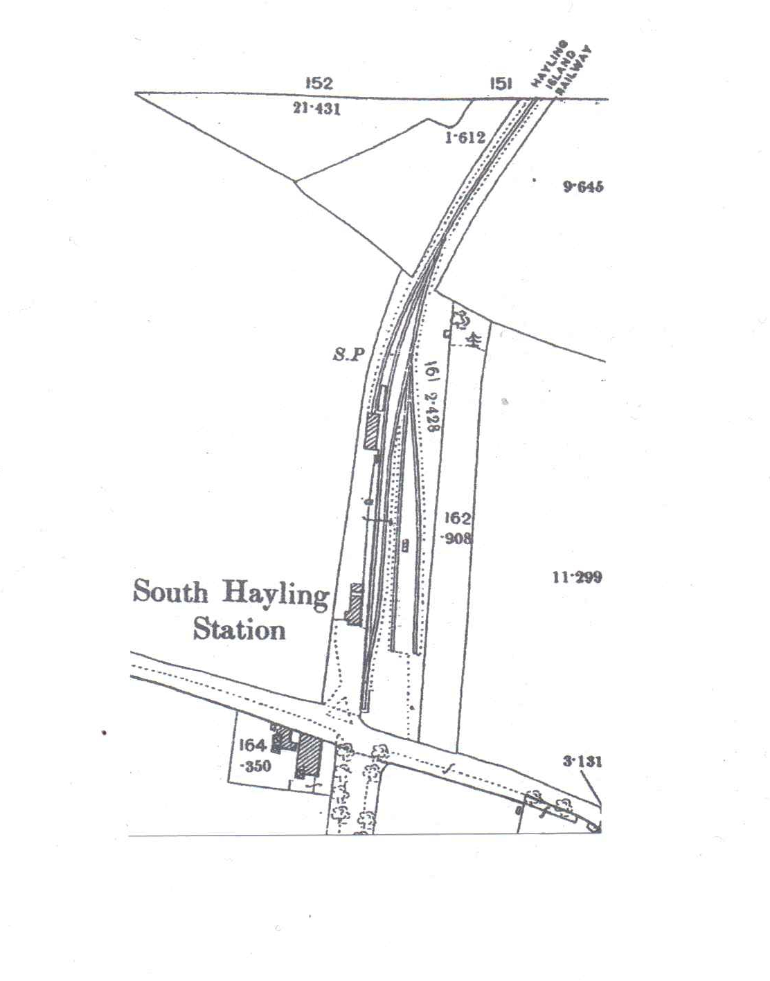 South Hayling track plan 1896