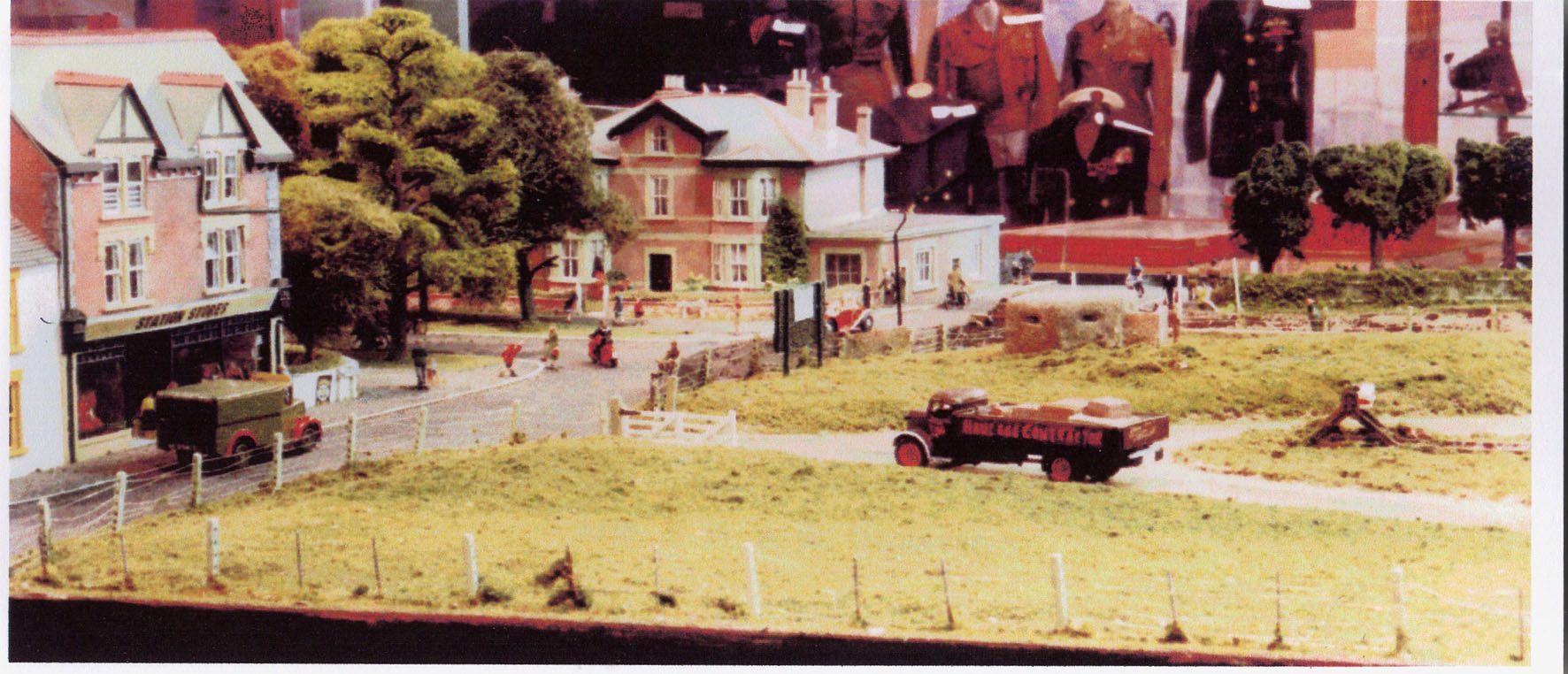 Alan Bell's Hayling Station model set as a wwll scene
