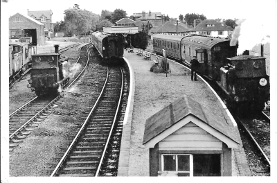 Summer passenger service at Hayling Island Station Photo AA Bell? (Dave Pallet collection)