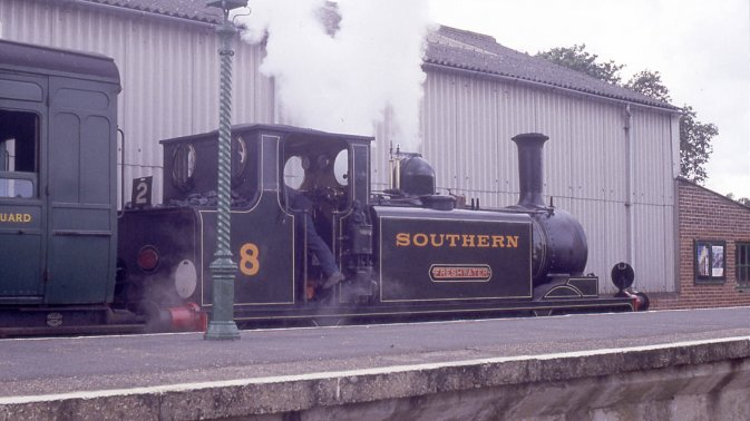 46 'Newington' as Southern Railway W8 'Freshwater' on the Isle of Wight Steam Railway.